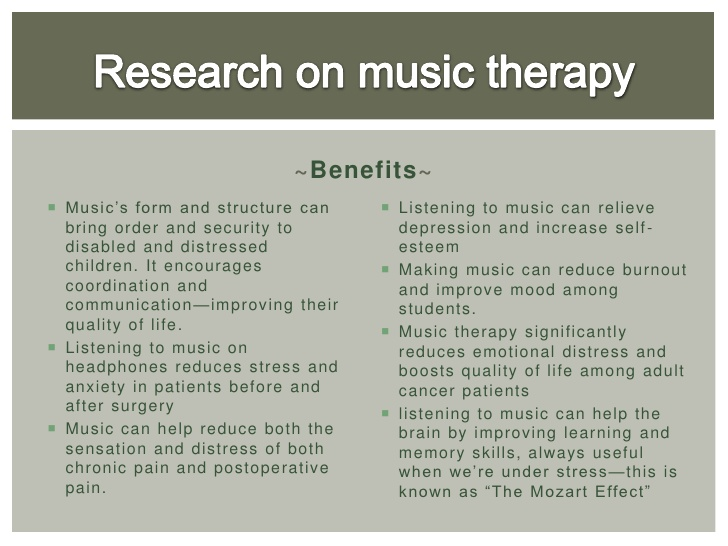 music can reduce stress essay How music helps you de-stress music can also keep depression and anxiety at bay as it helps increase creativity and optimism levels it lowers blood pressure.