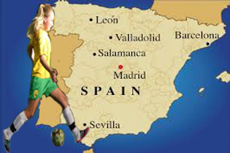 Football Map Of Spain.Fundraiser By Tony Avfc Castle Shelby Australia Futsal In Spain