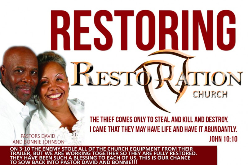 Fundraiser for Restoration Church by Mauricio Sonny : Restoring
