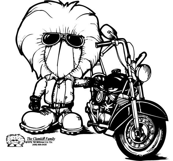 fundraiser by bruce ingrassia save the clamkin cartoon family Outlaw Choppers we talked on the phone and visited each other through the years it was in mitchs honor that i created this bad ass biker charlie chopper