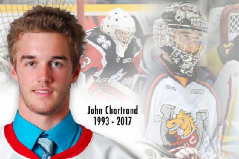 Fundraiser for former Barrie Colt John Chartrand. #OHL