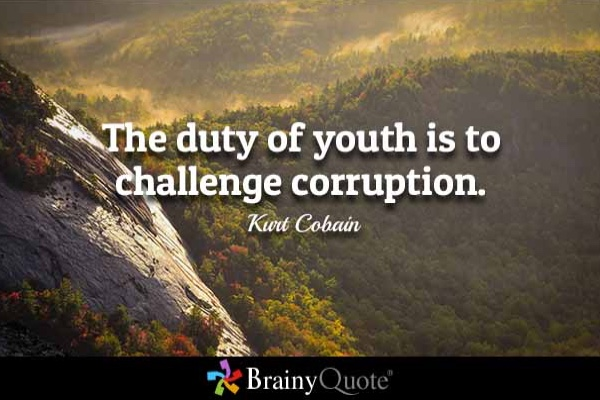 the role of youth in corruption