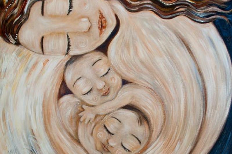 швейцарии картинка мама с двумя сыновьями рисунок тому руина выглядела