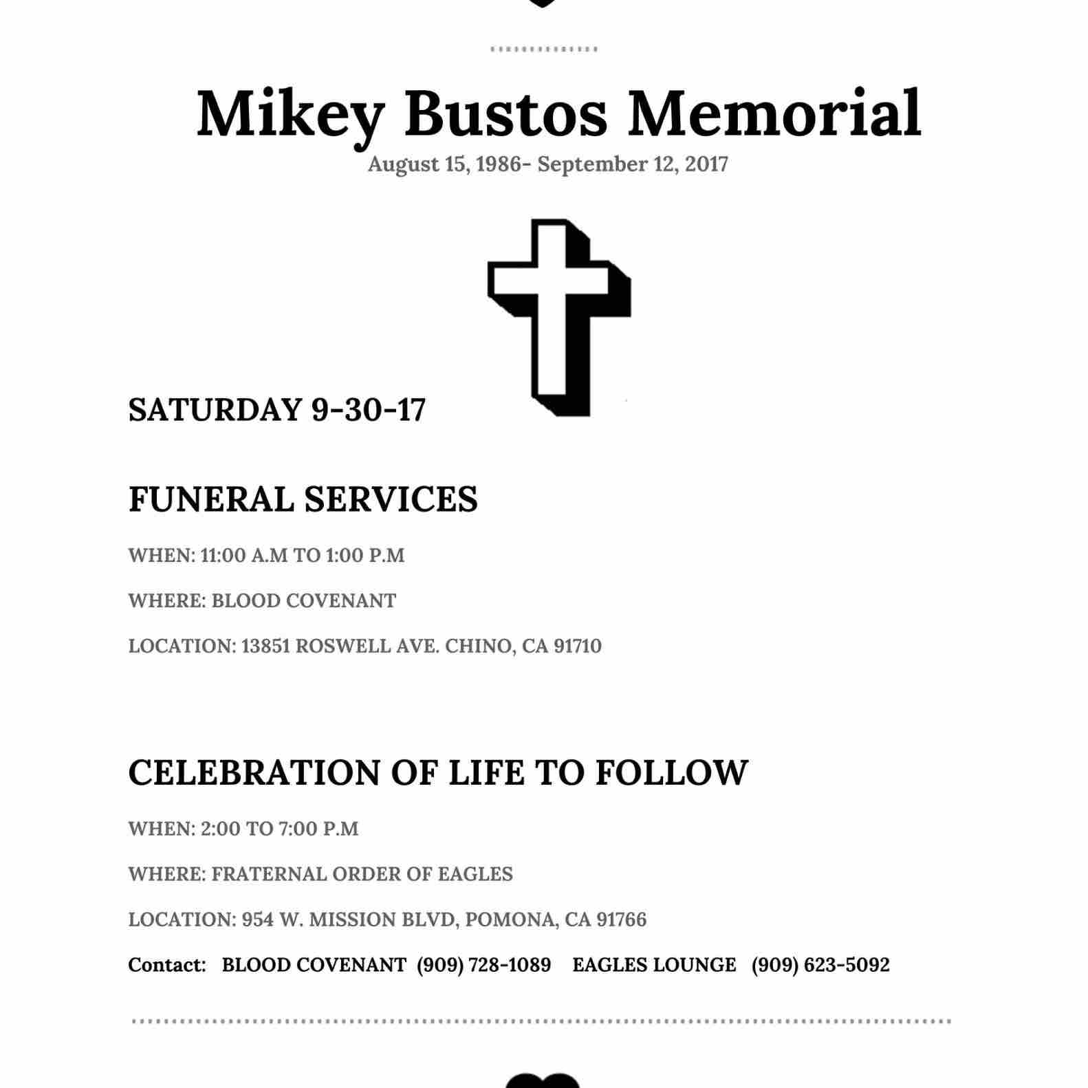 Fundraiser for rachel cabral by trudy motschman garcia help information for mike bustos this weekend please share and thank you all for your support and love buycottarizona