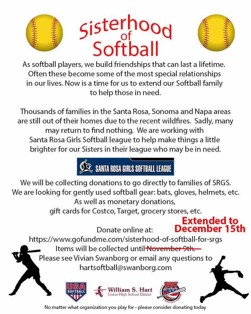 Fundraiser by Vivian Swanborg   Sisterhood of Softball for SRGS d5d1bd10fbb
