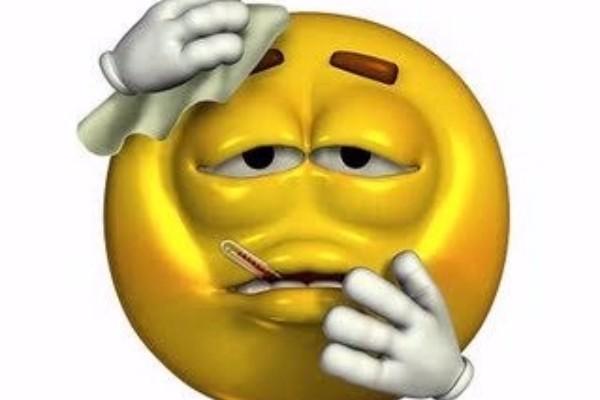 Animated Emoticons Sick