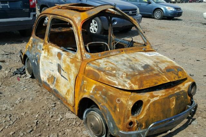 fundraiser by jean loiseau save this burnt 1972 fiat 500l. Black Bedroom Furniture Sets. Home Design Ideas
