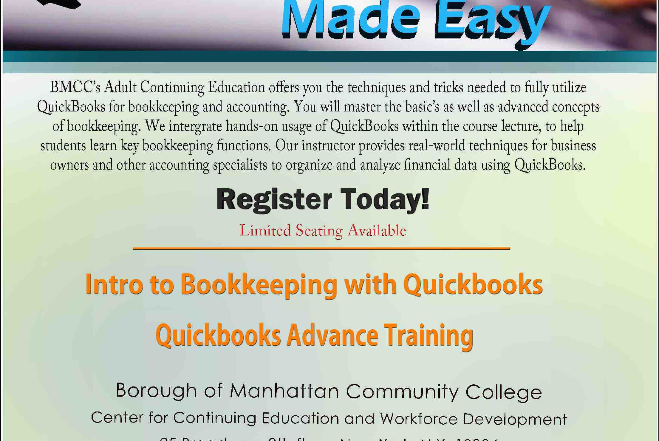 Fundraiser By Dahina Augustin Quickbooks Certification Class