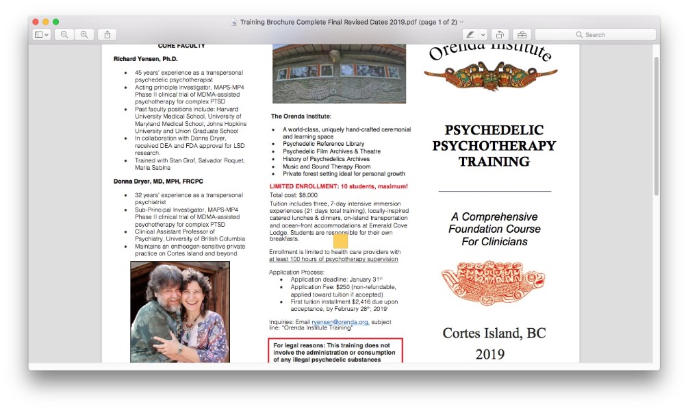 Fundraiser by Emma Lee : Psychedelic Therapy Training