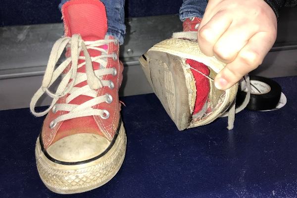 converse shoes donations