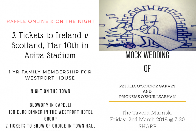 fundraiser by aidan gill mock wedding raffle lecanvey ns