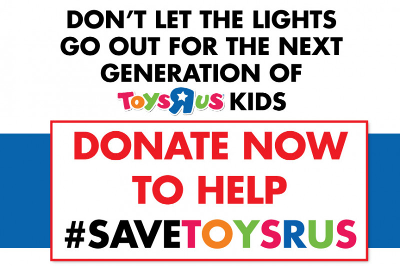 "Click here to support Save Toys""R""Us organized by Save Toys""R""Us"