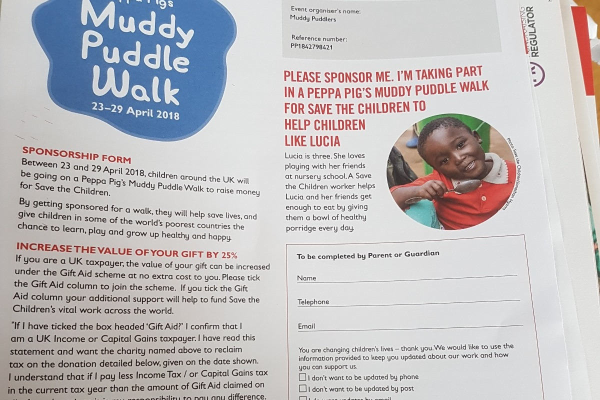 Fundraiser by kayleigh heguye save the children muddy walk donate now not now negle Image collections
