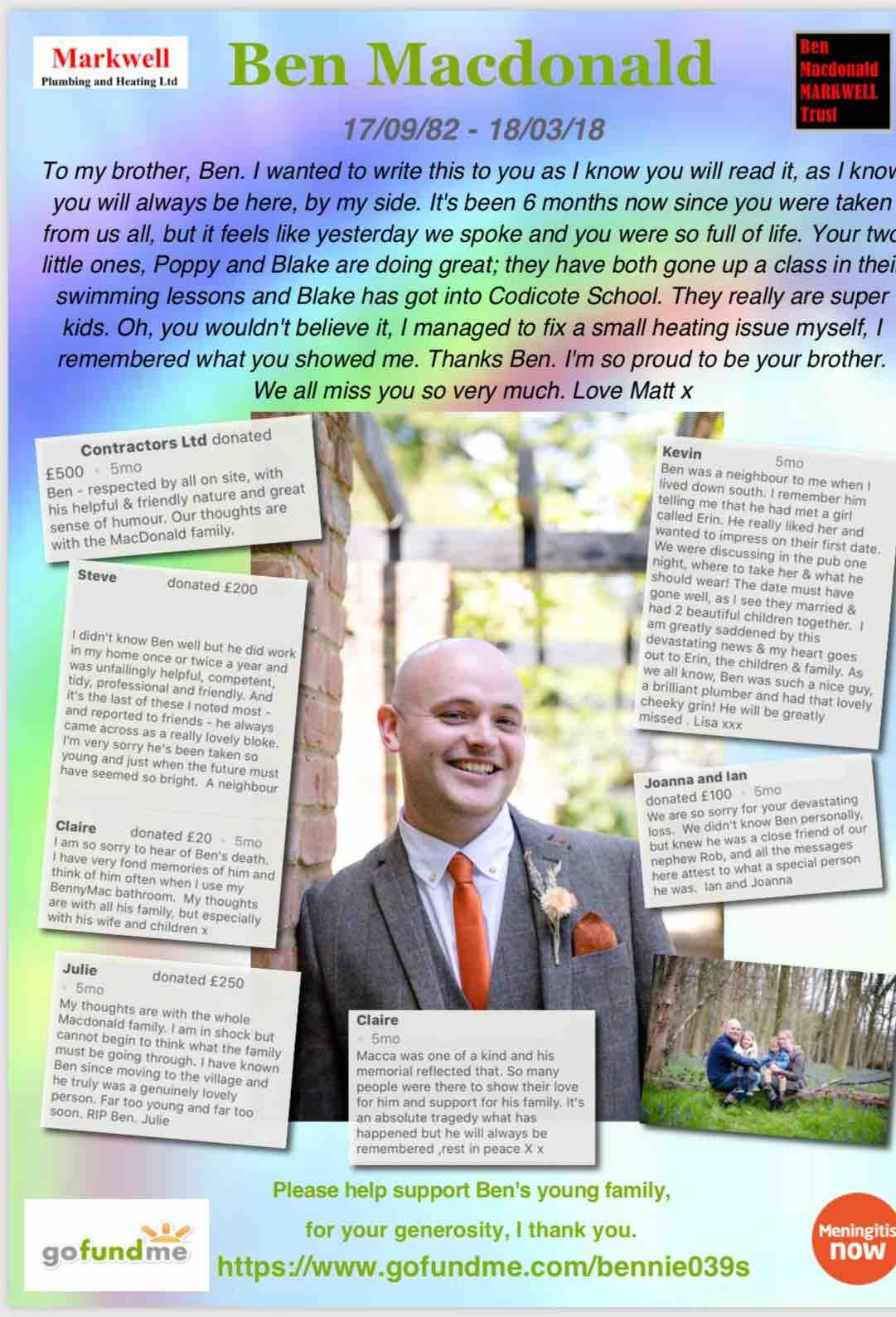 Fundraiser by Matthew Macdonald : Please help Benny's wife