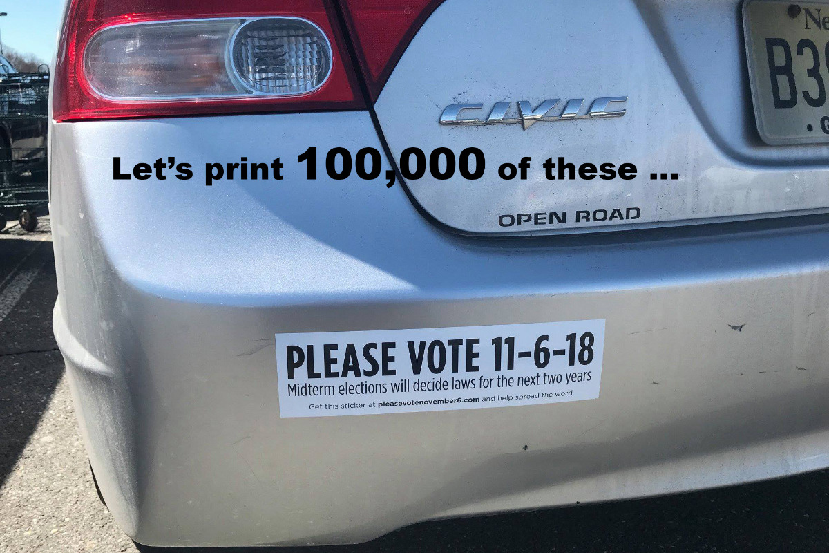 Fundraiser by aaron brown bumper stickers to boost 18 voting