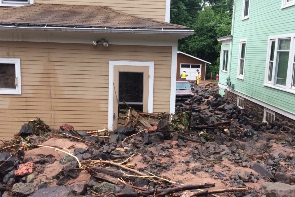 Fundraiser to help Ripley family: home damaged by flood, waterfall