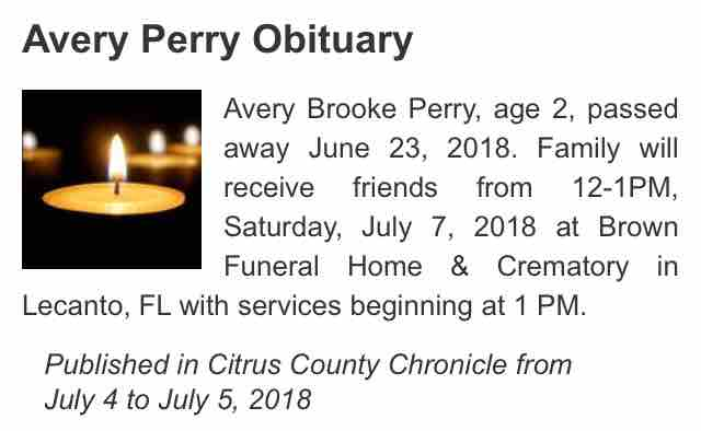 Fundraiser by Tanaya Perry : Funeral Fund For Avery Perry