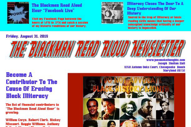 Fundraiser by Joseph Shelton Hall : National Blackman's Read Aloud Hour