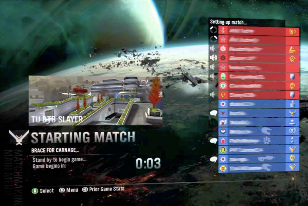 Halo reach matchmaking number