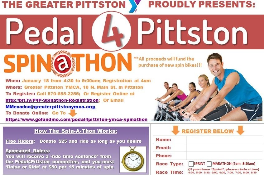Fundraiser by Kevin O'Boyle : Pedal4Pittston YMCA SpinAThon