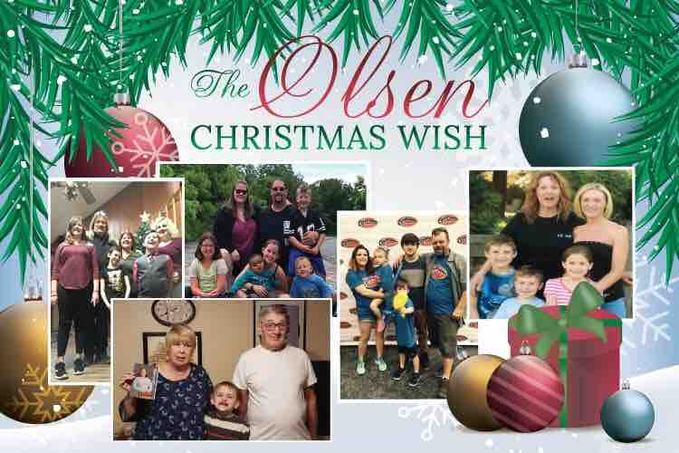 The Christmas Wish.Fundraiser By Chris Shelly The Olsen Christmas Wish
