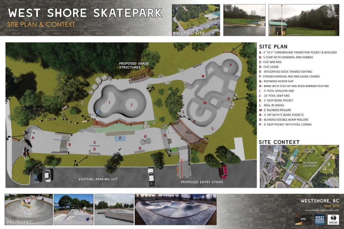 Westshore skatepark rendering