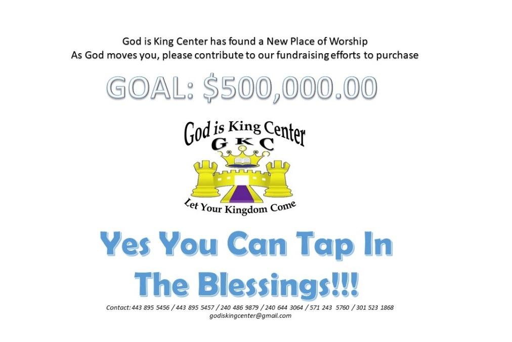 Fundraiser by Herve Kamaha : God is King Center New Hall