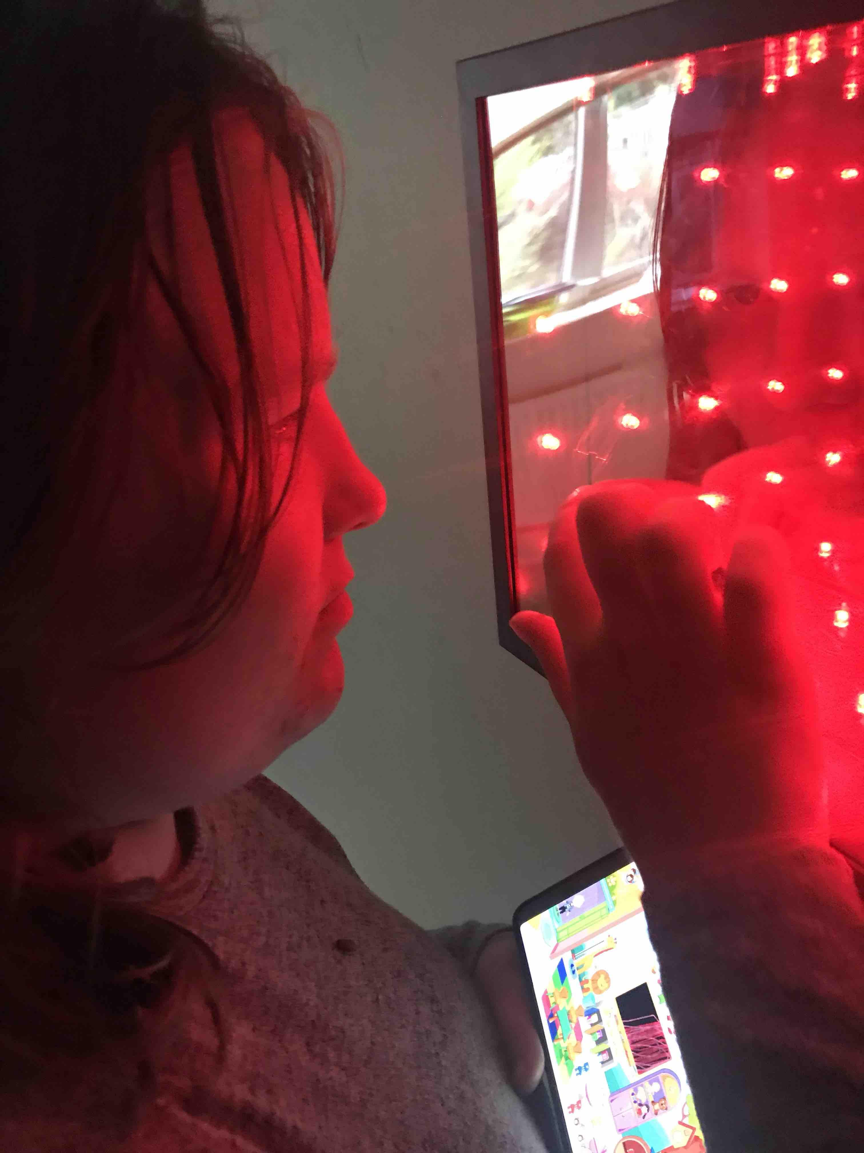 Red Infinity Light sensory Autism Adhd Spd