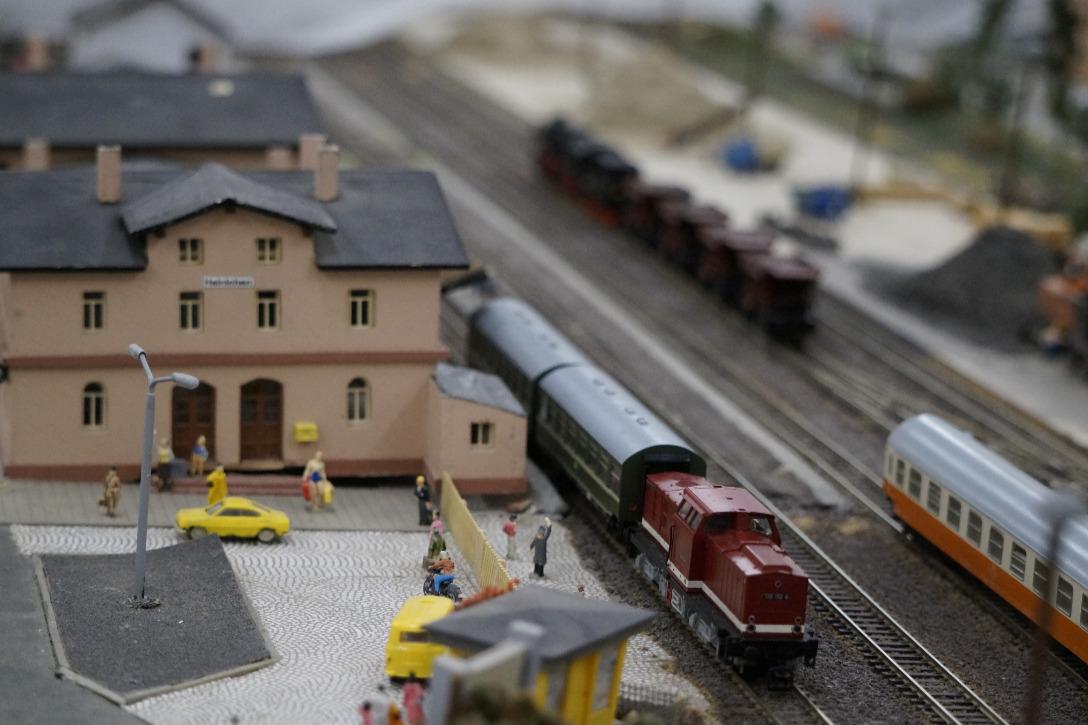 Der Bahnhof Hainichen in Spur TT